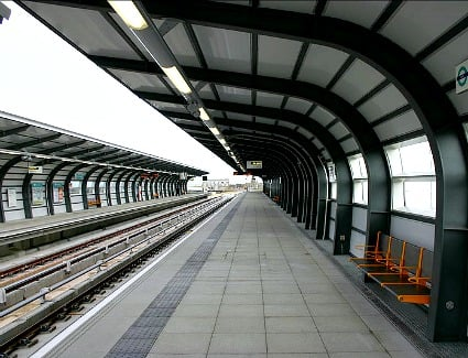 Pontoon Dock Tube Station, London