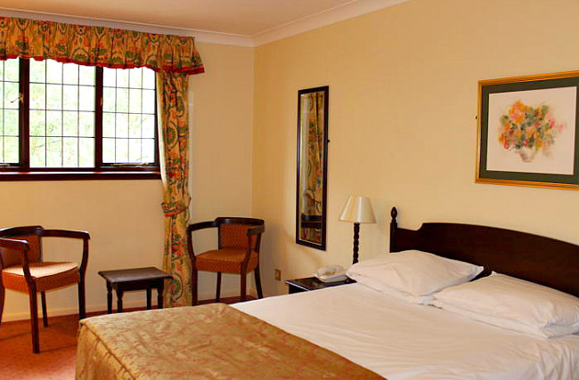 Get a good night's sleep in your comfortable room at The Devils Punchbowl Hotel