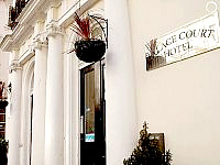 The welcoming exterior at Palace Court Hotel London