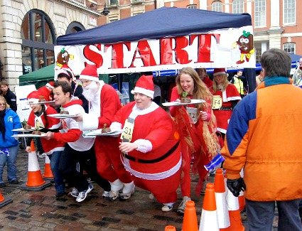 Great Christmas Pudding Race at Covent Garden Piazza, London