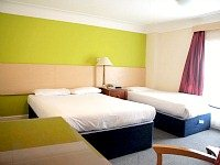 A triple room at Queens Hotel London