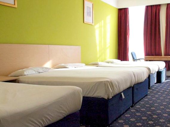 Quad rooms at Queens Hotel London are the ideal choice for groups of friends or families