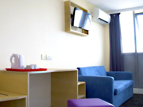 Enjoy a hot drink thanks to the tea/coffee making facilities in your room at Queens Hotel London
