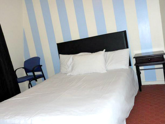 A typical double room at City View Hotel London