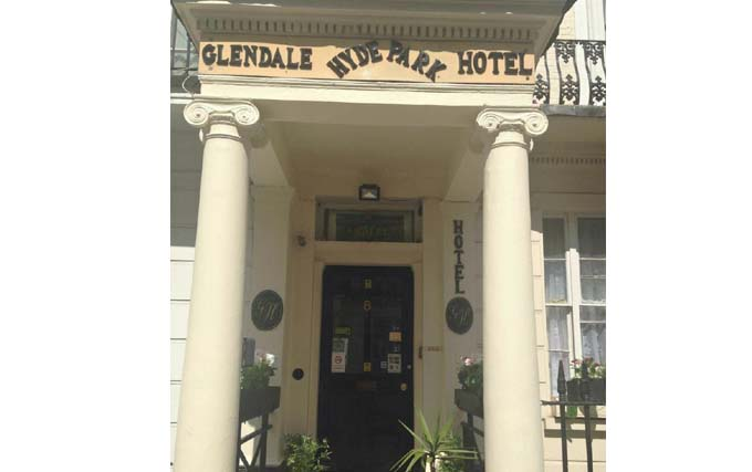 An exterior view of Glendale Hyde Park Hotel