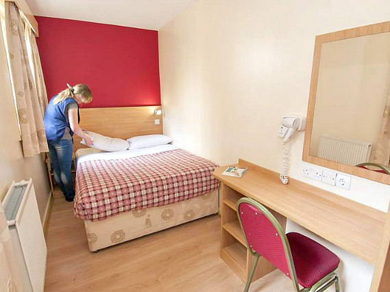 A typical double room at Colliers Hotel