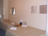 A typical triple room at the St Simeon Hotel