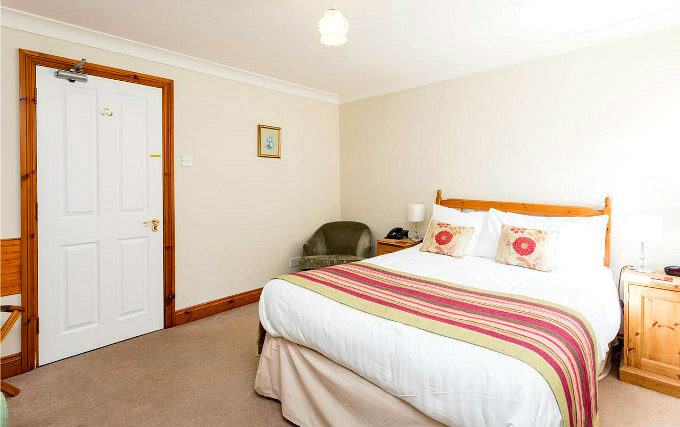 A comfortable double room at The Lawn Guest House