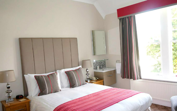 A double room at The Lawn Guest House
