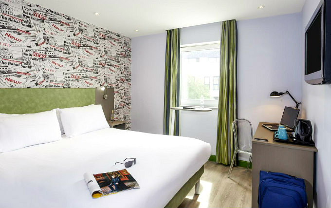 A comfortable double room at Sleeping Beauty Hotel