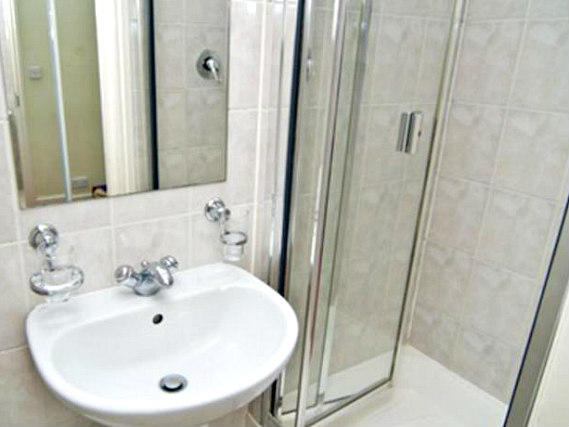 Enjoy the privacy and convenience of your own private bathroom