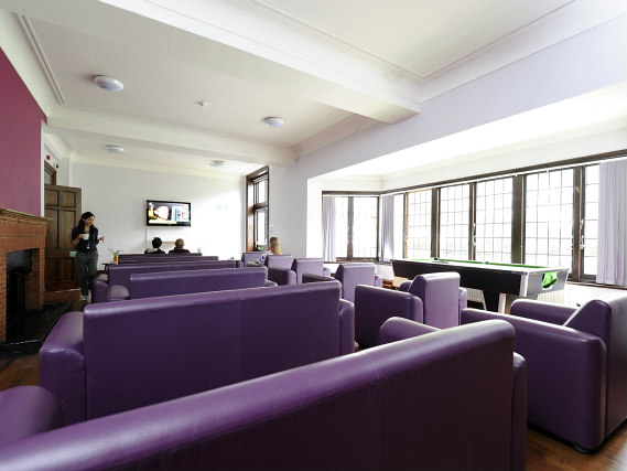 Relax in the lounge at Platt Hall
