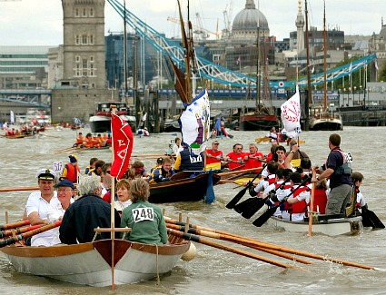 The Great River Race at River Thames, London