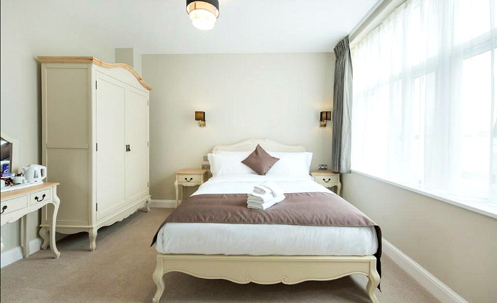 A double room at Docklands Lodge Hotel London
