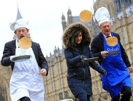Pancake Day Races at Victoria Tower Gardens, London