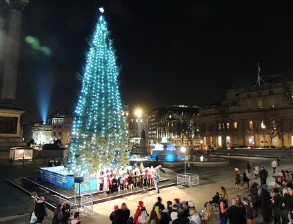 Trafalgar Square Christmas Tree and Carols