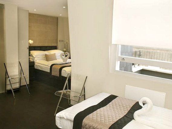 Quad rooms at 39 Suites London are the ideal choice for groups of friends or families