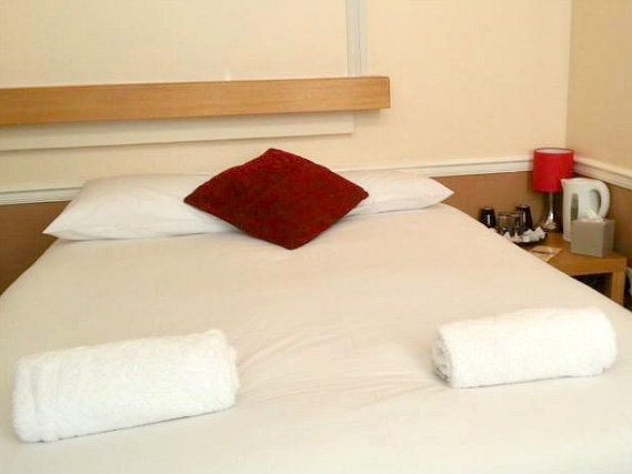 A typical room at Excel Guest House London