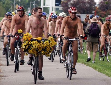 World Naked Bike Ride at Regents Park