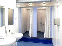 Communal bathroom facilities are available