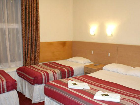 Quad rooms at London Guest House Acton are the ideal choice for groups of friends or families