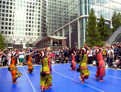 Dancing City Festival at Cabot Square, London