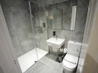 Bathrooms are stylish and modern at Airways Hotel