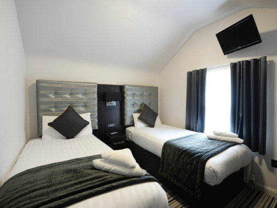 A twin room at The 29 London (fka Airways Hotel) is perfect for two guests