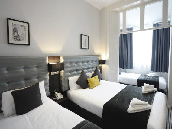 Quad rooms at The 29 London (fka Airways Hotel) are the ideal choice for groups of friends or families