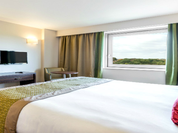 A double room at Heston Hyde Hotel is perfect for a couple