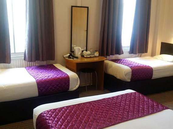 Triple rooms at Arriva Hotel are the ideal choice for groups of friends or families