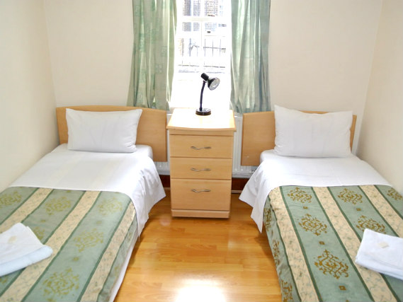 A twin room at Belgrove Hotel is perfect for two guests