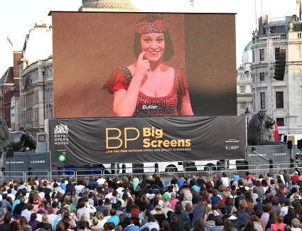 BP Big Screens at Royal Opera House, London