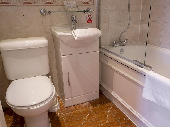 Relax in the private bathroom in your room at Hyde Park View Hostel
