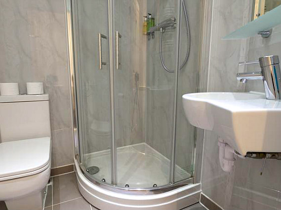 A typical shower system at The Royal Hyde Park Hotel