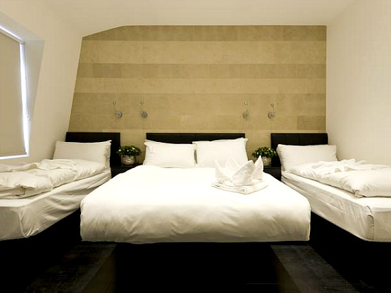 Quad rooms at The Royal Hyde Park Hotel are the ideal choice for groups of friends or families