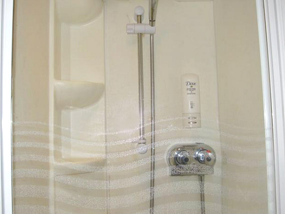 A typical shower system at Chiswick Lodge Hotel
