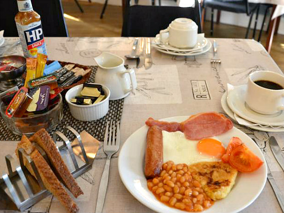 Get your day off to a great start with a full English breakfast