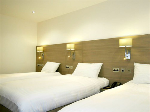 Triple rooms at The Lion and Key Hotel are the ideal choice for groups of friends or families