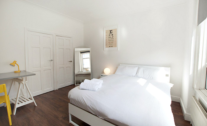 A double room at Tooting Studios is perfect for a couple