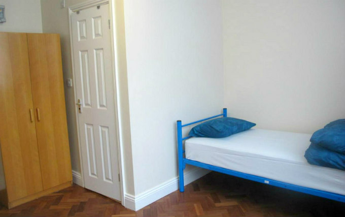 A single room at Northfields Hostel London