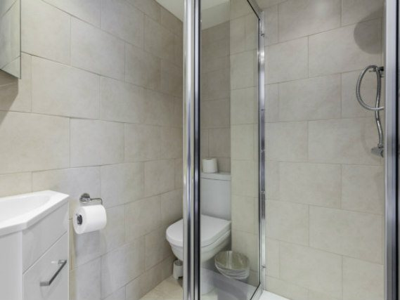 A typical shower system at Belgravia Rooms London