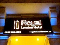 The exterior of Royal London Hotel