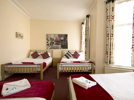 Multi-bedded rooms are great for friends and family sharing