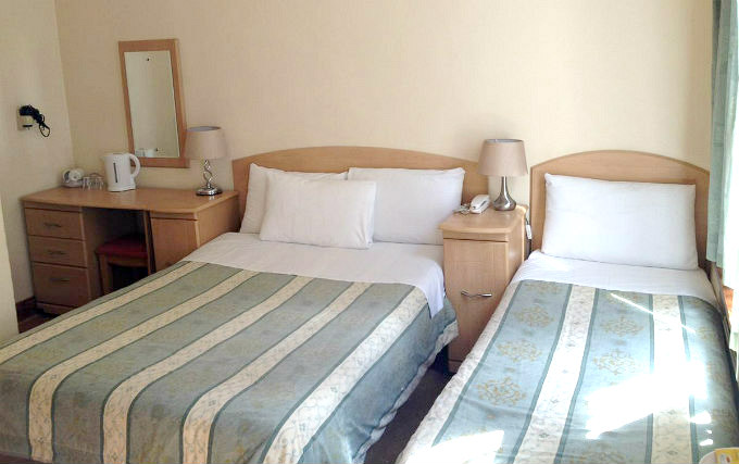 A comfortable triple room at Seven Dials Hotel