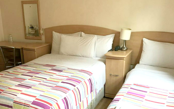 A typical triple room at Seven Dials Hotel