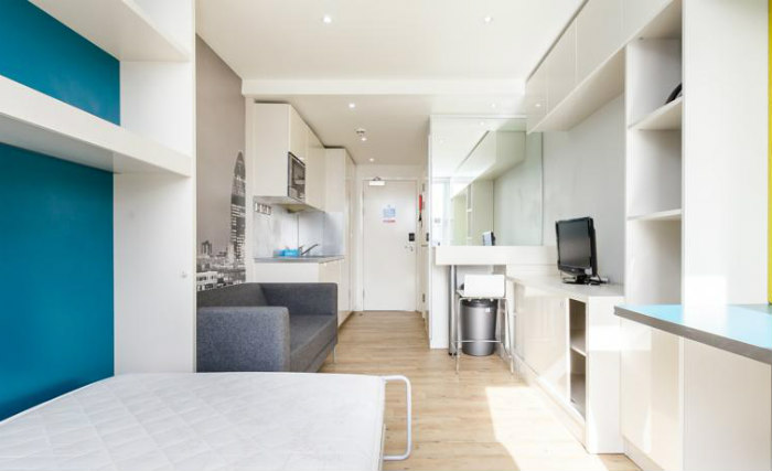 A comfortable double rooms at Student Haus Bethnal Green