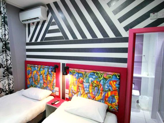 A twin room at Best Western Peckham Hotel is perfect for two guests