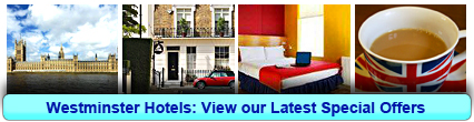 Westminster Hotels: Book from only £13.17 per person!