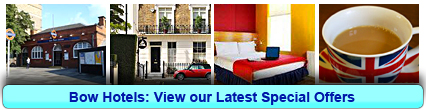 Bow Hotels: Book from only £13.75 per person!